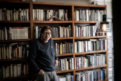 Mexican philosopher Rodolfo Vázquez poses at his home in Mexico City on June 17.