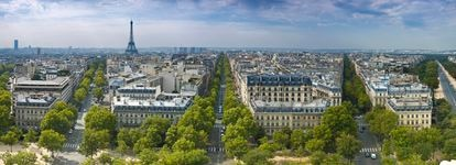 Vista panorámica de París, Francia.