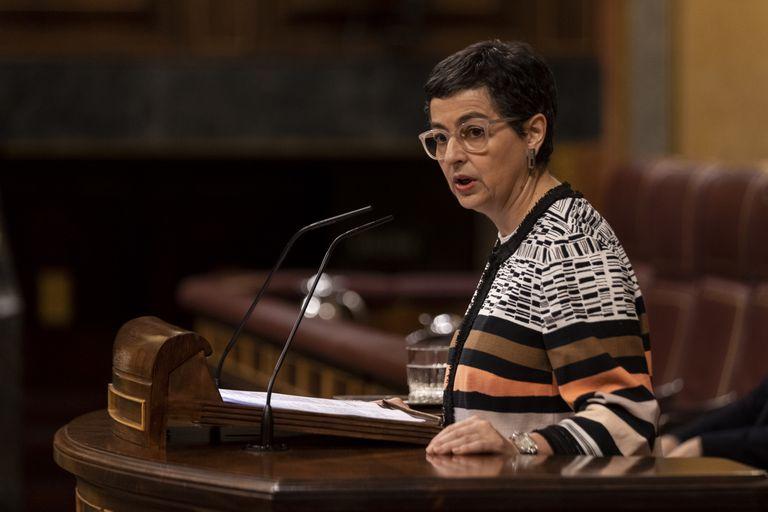 Arancha González Laya defiende el tratado de Gibraltar en el pleno del Congreso.