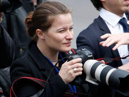La fotógrafa de Emmanuel Macron, Soazig de la Moissonniere, en París, en 2017.