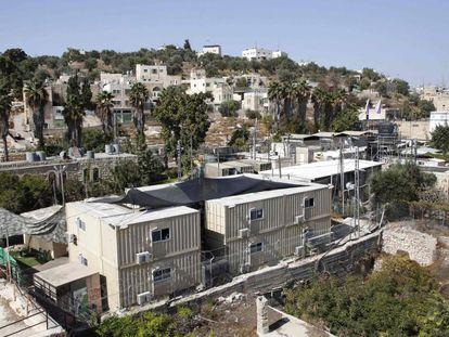 Base militar israelí en Hebrón este martes, donde 31 nuevos asentamientos de colonos van a ser construidos.