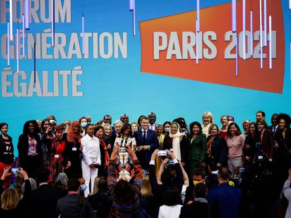 La sesión inaugural del Foro Generación Igualdad en París este 30 de junio fue presencial; el resto de eventos serán virtuales.