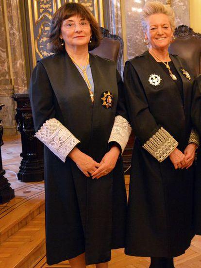 Las magistradas del Tribunal Supremo Lourdes Arastey (izquierda) y María Luisa Segoviano.