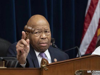 El congresista demócrata Elijah Cummings, presidente del Comité de Reformas y Supervisión, en una imagen del pasado abril.