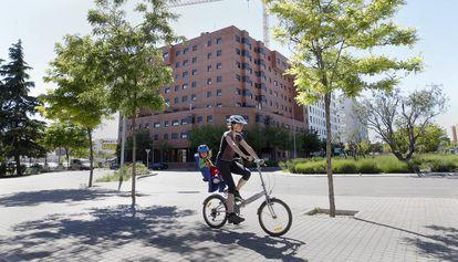 Bloque de viviendas protegidas en Madrid.