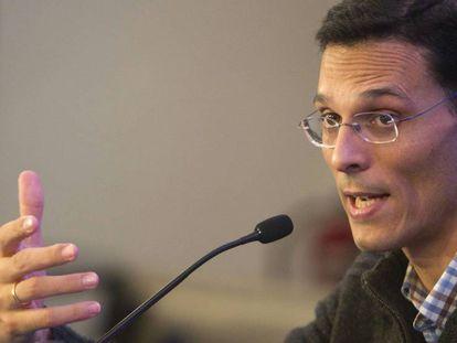 Marcos Chicot, autor del best-seller El asesinato de Pitágoras' y finalista del Planeta de este año con 'El asesinato de Sócrates'.