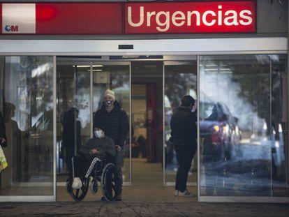 El acceso a las urgencias de traumatología del Hospital de La Paz.