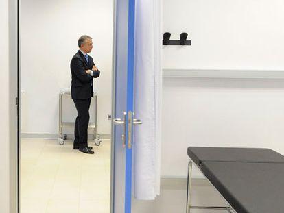 El 'lehendakari', Iñigo Urkullu, este lunes en la inauguración del nuevo edificio de consultas externas del Hospital Universitario de Álava.