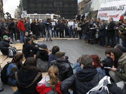 """El 'debate sobre el estado de la corrupción"""", esta tarde en Madrid."""