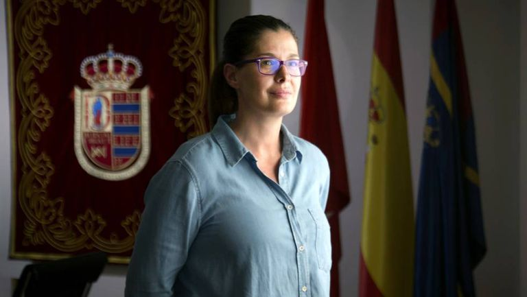 Noelia Posse, alcaldesa de Móstoles, en septiembre