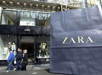 Una tienda de la cadena Zara, el buque insignia del grupo Inditex.