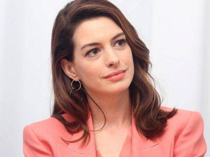 La actriz Anne Hathaway, en California, el pasado enero.