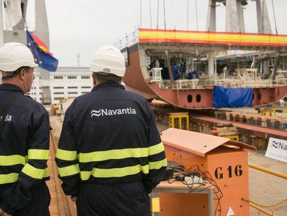Dos empleados de Navantia.