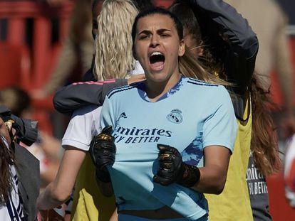 Misa Rodríguez con el Real Madrid la temporada pasada.
