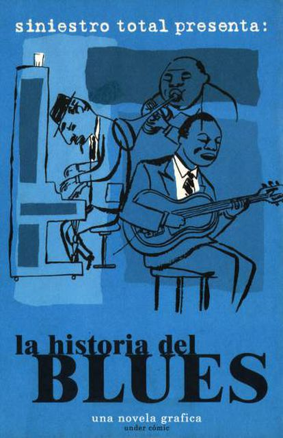 Portada del tebeo colectivo 'La historia del blues', sobre las aventuras de Jack Griffin, editado por Under Comic.