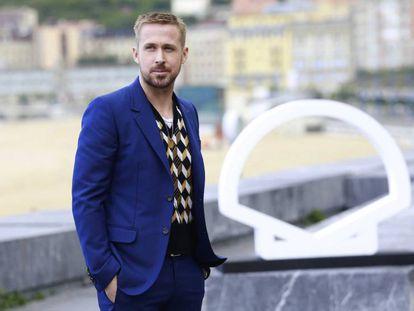 Ryan Gosling, en San Sebastián en la presentación de 'El primer hombre'.