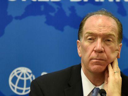 David Malpass, presidente del Banco Mundial, en las oficinas de la institución en la India, el pasado octubre.