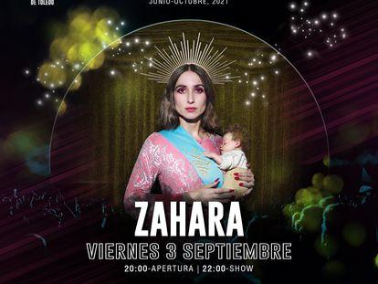Cartel promocional del concierto de Zahara en Toledo.