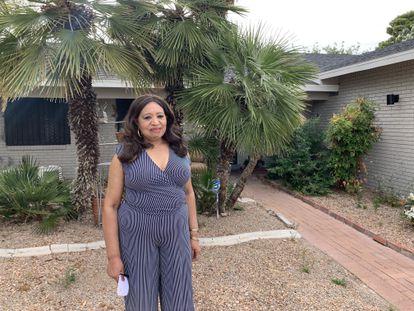 Molestina Rivera, trabajadora del Bellagio en paro, en su casa de Las Vegas.