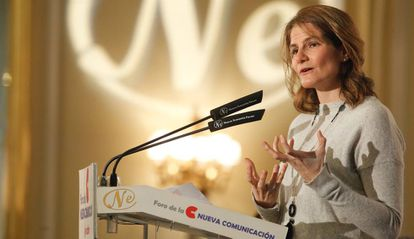 Fuencisla Clemares, directora general de Google en España y Portugal, esta mañana