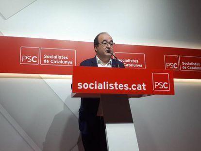 Miquel Iceta, este sábado en Barcelona.