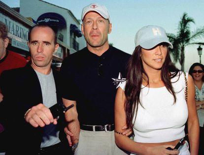 Bruce Willis y María Bravo, de vacaciones en Marbella en 1999.