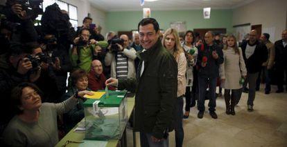 El candidato del PP Juan Manuel Moreno Bonilla.