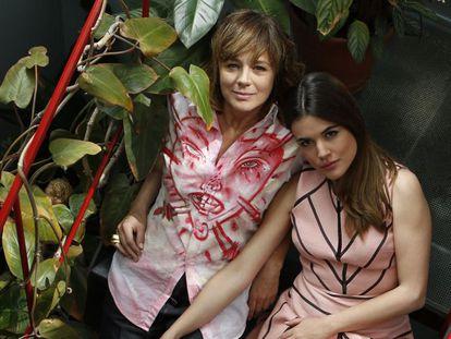 Emma Suárez y Adriana Ugarte, retratadas esta semana en Madrid.