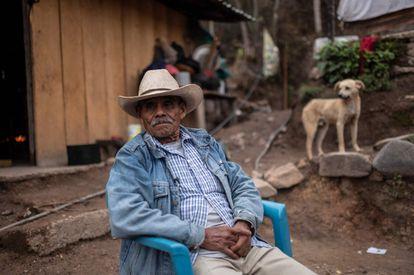 Virginio Moreno, en su casa de la aldea Juvinani, del estado de Guerrero, en mayo de 2021.