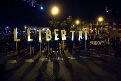 La Meridiana, cortada el pasado 12 de noviembre.