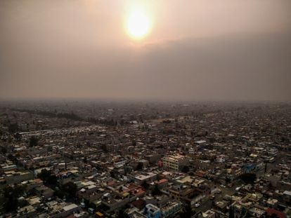 Vista aérea del municipio de Nezahualcóyotl, en el Estado de México. IGNACIO GALLELLO