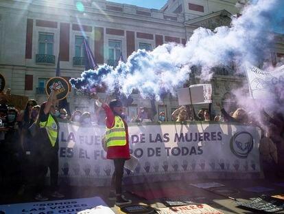 Manifestación este sábado en Madrid contra algunas de las políticas del Ministerio de Igualdad.