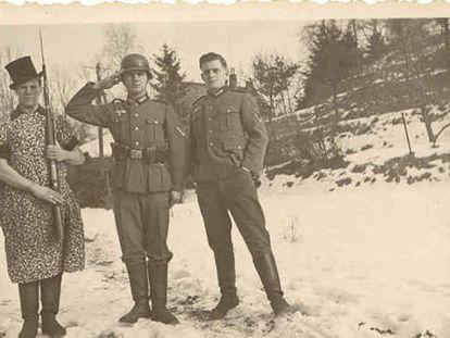 Soldados alemanes en el frente ruso.