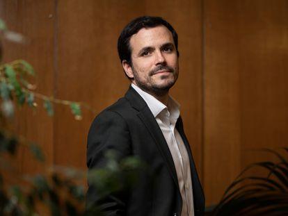 El ministro de Consumo, Alberto Garzón, el pasado viernes en el Ministerio.