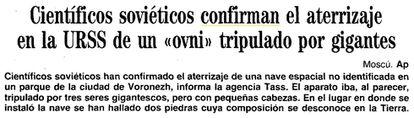 """Información de la agencia AP, publicada en la sección de Sociedad de ABC el día 10 de octubre de 1989. El documento puede consultarse <a href=""""http://hemeroteca.abc.es/nav/Navigate.exe/hemeroteca/sevilla/abc.sevilla/1989/10/10/054.html"""">en su archivo</a>."""