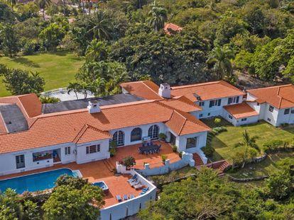 Vista aérea de la casa de las Bahamas de Eduardo VIII y Wallis Simpson.