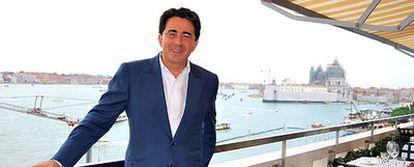 Santiago Calatrava, ayer en Venecia, donde han finalizado las obras de su polémico puente sobre el Gran Canal.