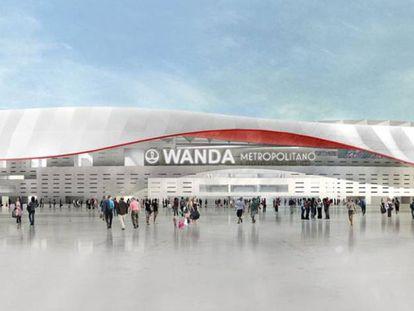 Imagen idealizada del nuevo estadio del Atlético de Madrid