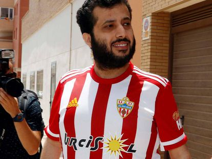 Turki Al-Sheikh, justo después de comprar el Almería.