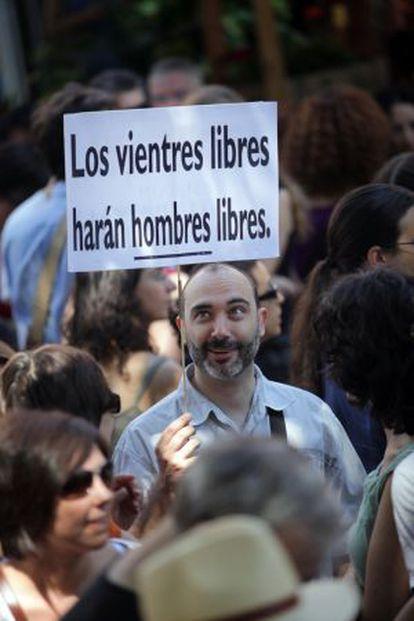 Concentración en Madrid contra la reforma que prepara el Gobierno en materia de aborto.