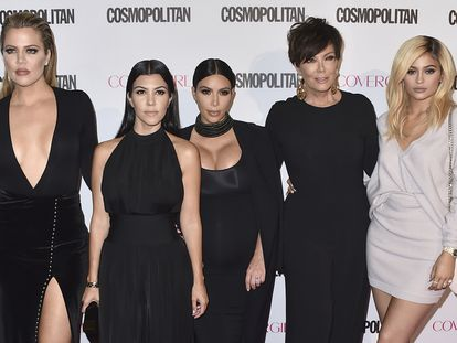 De izquierda a derecha, Kourtney Kardashian, Kim Kardashian, Kris Jenner y  Kylie Jenner.