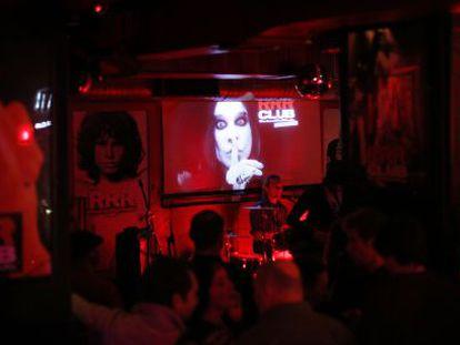 El interior del Club Rock & Roll Radio.