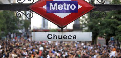 Plaza de Chueca, en las fiestas del Orgullo Gay.