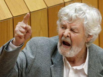 El portavoz de Alternativa Galega de Esquerda, Xosé Manuel Beiras
