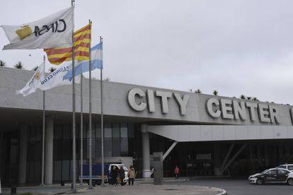 Frente del complejo City Center de Rosario, donde el viernes se casarán Messi y Roccuzzo.