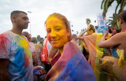 Participantes en el Orgullo Gay de Barcelona.