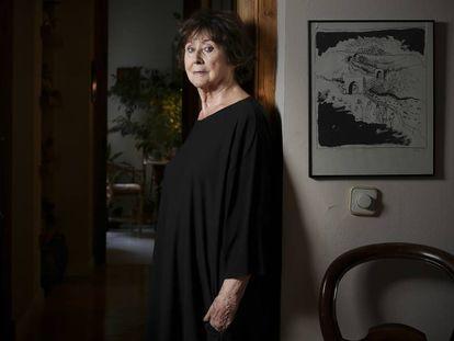 La actriz Julieta Serrano, hoy, en su casa de Madrid.