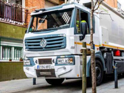 Camión de Urbaser dedicado a la recogida de basuras.