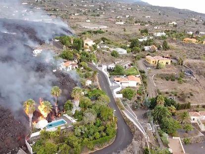 Vídeo | La destrucción de la lava a vista de dron