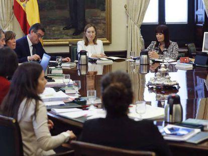 Reunión de la Mesa de la Diputación Permanente, este miércoles.